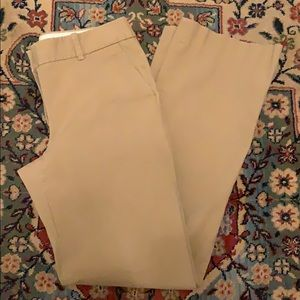J. Crew City Fit Mid Rise Cotton Khaki Trousers